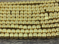 Gold Square Hematite Bead | Fashion Jewellery Outlet