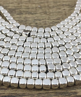 Silver Square Hematite Bead | Fashion Jewellery Outlet