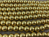 6mm Gold Hematite Bead | Fashion Jewellery Outlet