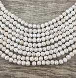Beige Howlite Bead | Fashion Jewellery Outlet