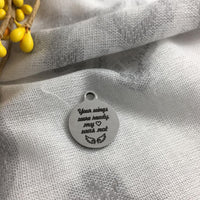 Laser Engraved Round Charm | Fashion Jewellery Outlet