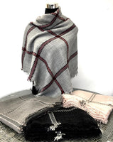 Blanket Scarf, Square Scarf, Winter Scarf | Fashion Jewellery Outlet
