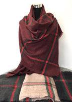 Designer Inspired Blanket Scarf Long, Winter Scarf | Fashion Jewellery Outlet