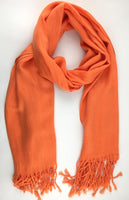 Pashmina Scarf with Fringe, Burnt Orange | Fashion Jewellery Outlet