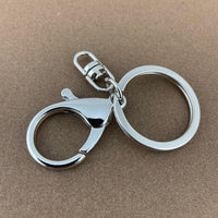 Silver Large Lobster Clasps with Key Ring| Fashion Jewellery Outlet