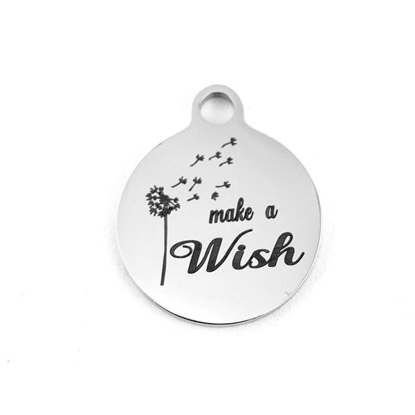 Make a Wish Laser Engraved Charm | Fashion Jewellery Outlet