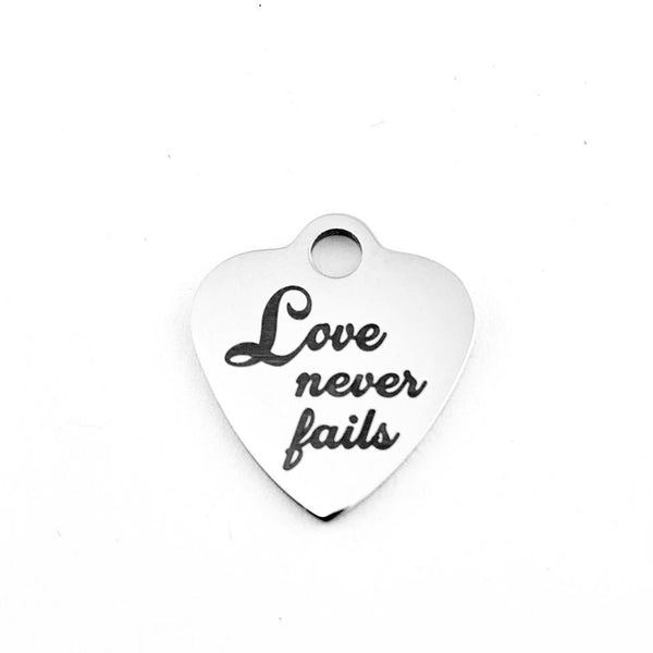Love never fails Customized Charms | Fashion Jewellery Outlet