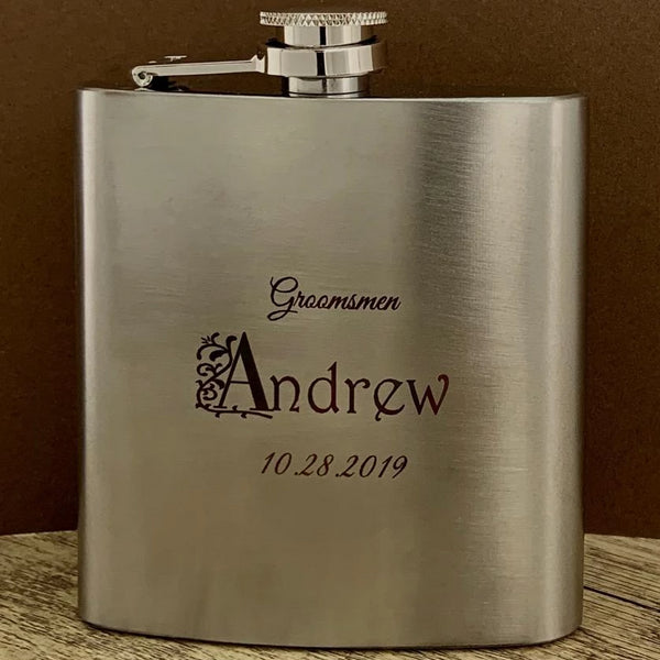Custom make Whiskey Flask, Your Own Writing | Fashion Jewellery Outlet