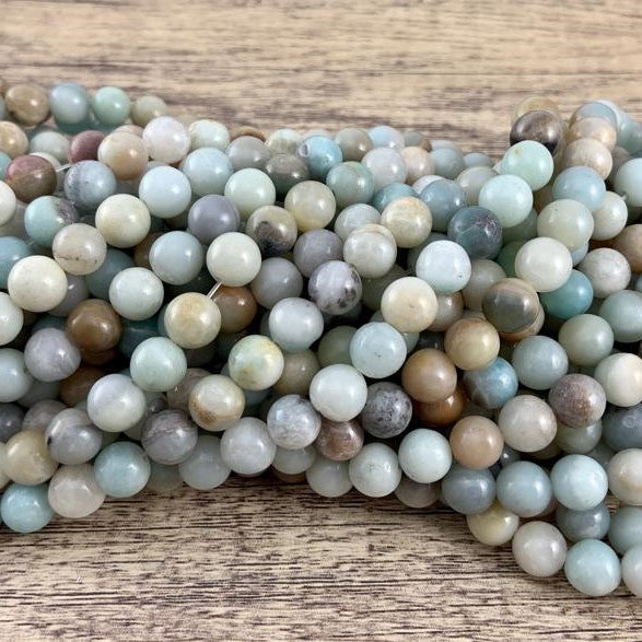 8mm Amazonite Bead | Fashion Jewellery Outlet