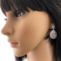 Silver Bridal Cubic Zirconia Earrings, 18K Plated | Fashion Jewellery Outlet