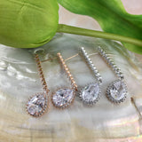 Bridal Cubic Zirconia Earrings, 18K Plated | Fashion Jewellery Outlet