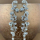 Crystal Designer Inspired Earrings, Silver | Fashion Jewellery Outlet