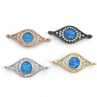 Abalone Evil Eye CZ Pave Connector | Fashion Jewellery Outlet