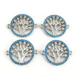 Silver Tree of Life CZ Pave Connector | Fashion Jewellery Outlet