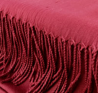 Pashmina Scarf with Fringe, Burgundy | Fashion Jewellery Outlet