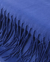 Pashmina Scarf with Fringe, Royal Blue | Fashion Jewellery Outlet