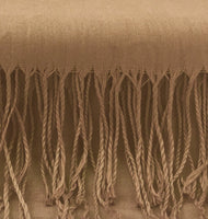 Pashmina Scarf with Fringe, Sand Light Brown | Fashion Jewellery Outlet