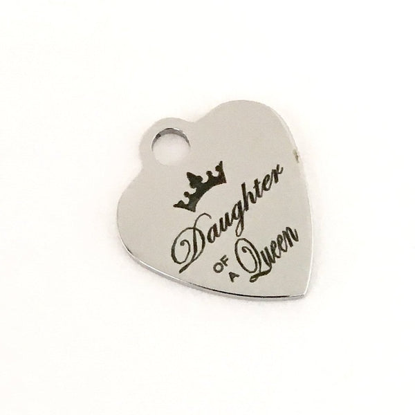 Daughter of a Queen Engraved Charm | Fashion Jewellery Outlet