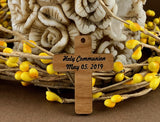 Holy Communion Personalized Wood Cross | Fashion Jewellery Outlet