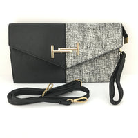 Black and Grey Clutch | Fashion Jewellery Outlet