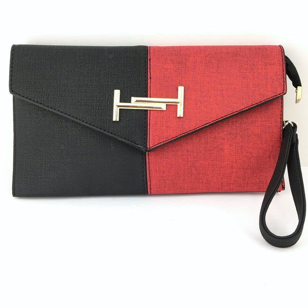 Red and Black Clutch | Fashion Jewellery Outlet