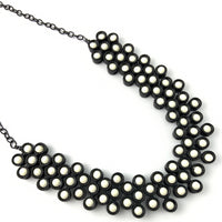 Black Tone Ivory Necklace | Fashion Jewellery Outlet