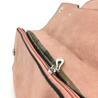 Pink Chain Detail Faux Leather Clutch | Fashion Jewellery Outlet