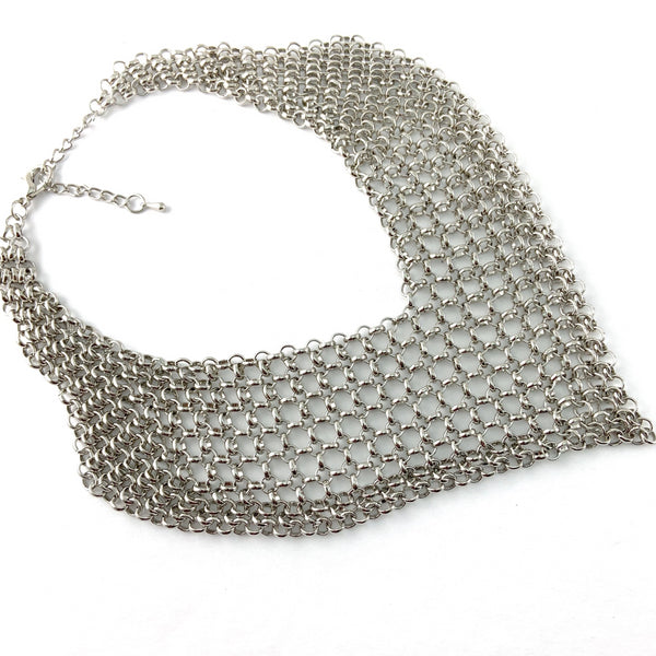 Chainmaille Collar Necklace, Gold | Fashion Jewellery Outlet