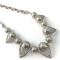 Filigree Ball Necklace with Crystals, Silver | Fashion Jewellery Outlet
