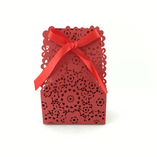 Burgundy Paper Gift Box | Fashion Jewellery Outlet