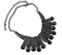 Black Leaves Necklace | Fashion Jewellery Outlet