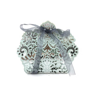 Baby Blue Silver Laser Cut Paper Gift Box | Fashion Jewellery Outlet
