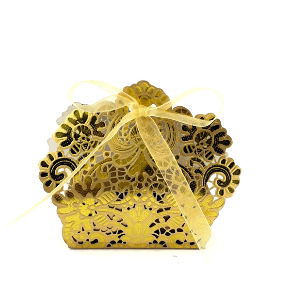 Laser Cut Gold Paper Gift Box | Fashion Jewellery Outlet