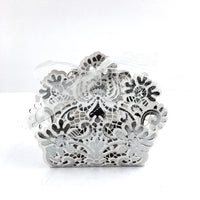 Silver Laser Cut Paper Gift Box | Fashion Jewellery Outlet