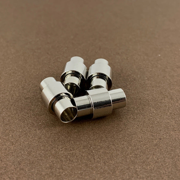 Leather Jewelry Magnetic Locks 2 sets, Silver | Fashion Jewellery Outlet