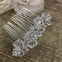 Silver Crystal Hair Comb, Bridal Hair Piece | Fashion Jewellery Outlet