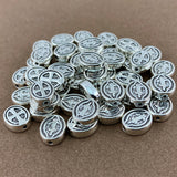 Alloy Catholic Beads, Antique Silver Bead | Fashion Jewellery Outlet