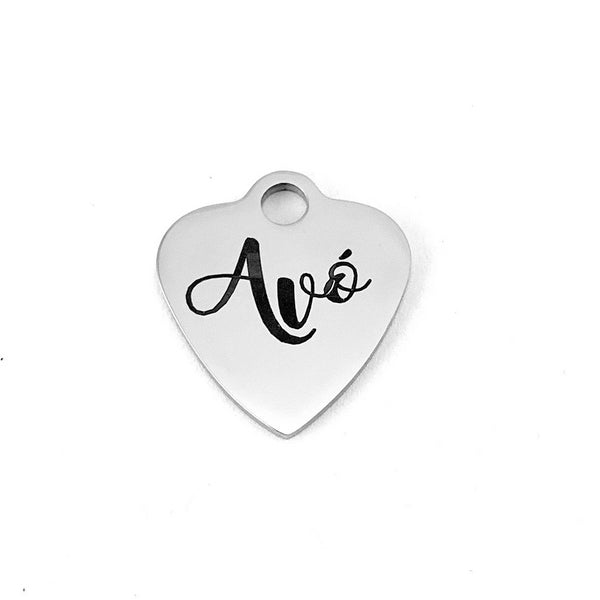 Avó (Grandma in Portuguese) Heart Charm | Fashion Jewellery Outlet