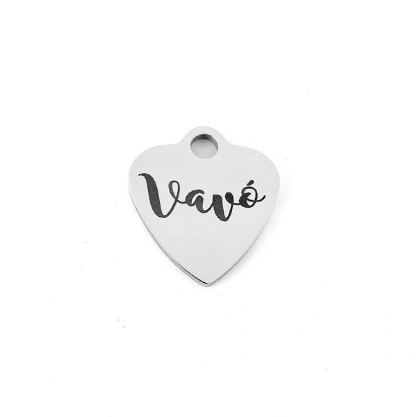 Vavó (Grandma in Portuguese) Personalized Heart Charm | Fashion Jewellery Outlet