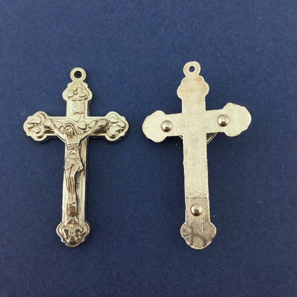 Alloy Silver Crucifix Cross Charm | Fashion Jewellery Outlet