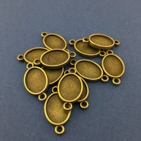 Oval Shape Alloy Jewellery Connectors | Fashion Jewellery Outlet