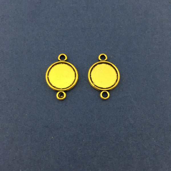 Gold Round Alloy Jewellery Connectors | Fashion Jewellery Outlet