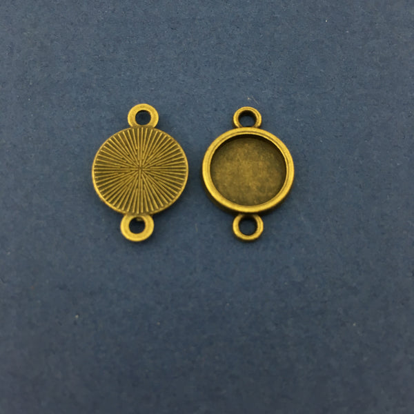 Bronze Round Alloy Jewellery Connectors | Fashion Jewellery Outlet