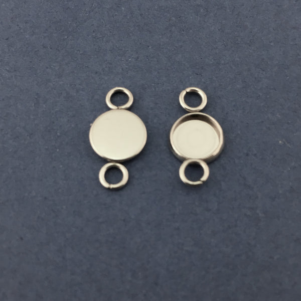 Silver Round Alloy Jewellery Connectors | Fashion Jewellery Outlet