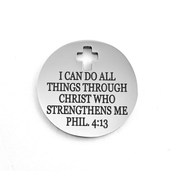 I CAN DO ALL THINGS THROUGH CHRIS WHO STRENGTHEN ME PHIL. 4:13 | Fashion Jewellery Outlet