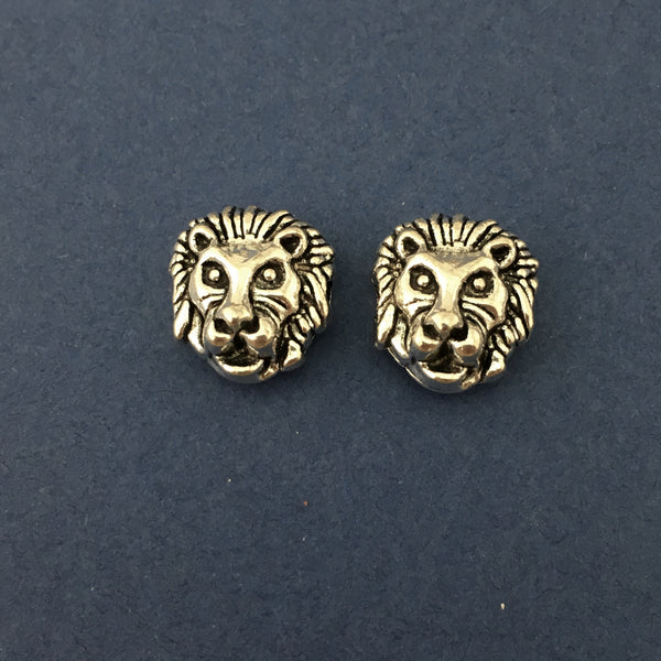 Alloy Silver Lion Beads | Fashion Jewellery Outlet