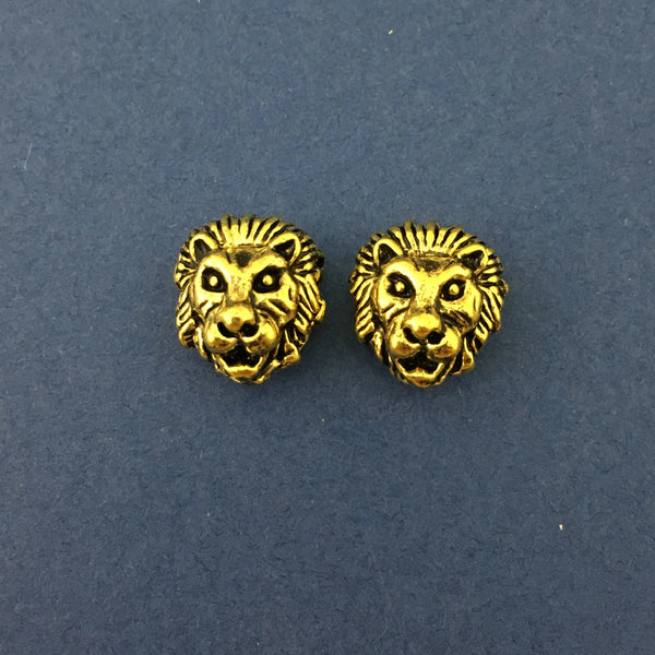Alloy Gold Lion Beads | Fashion Jewellery Outlet