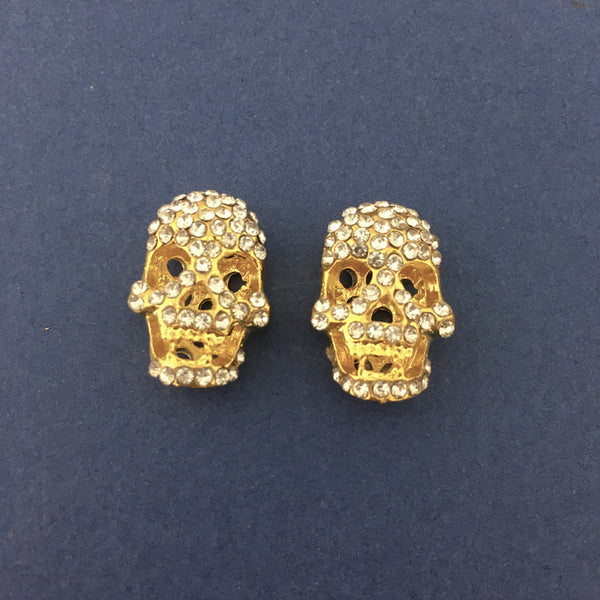 Alloy Gold Skeleton Beads | Fashion Jewellery Outlet