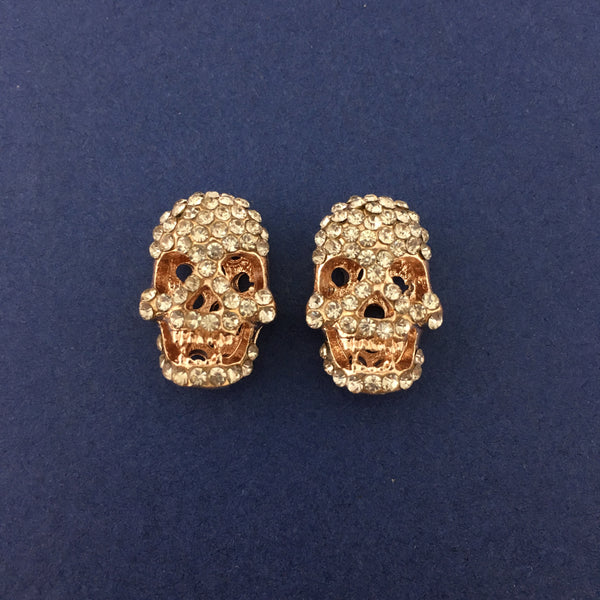 Alloy Rose Gold Skeleton Beads | Fashion Jewellery Outlet