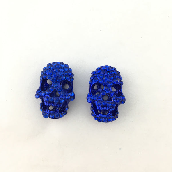 Alloy Blue Skeleton Beads | Fashion Jewellery Outlet
